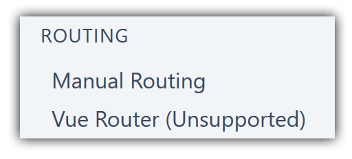 Vue Router (Unsupported)