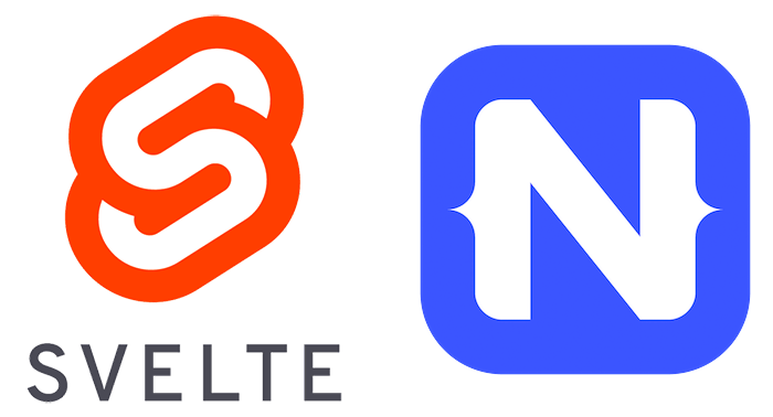 svelte and nativescript logos