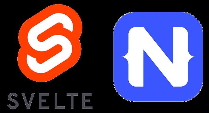 svelte and nativescript logos