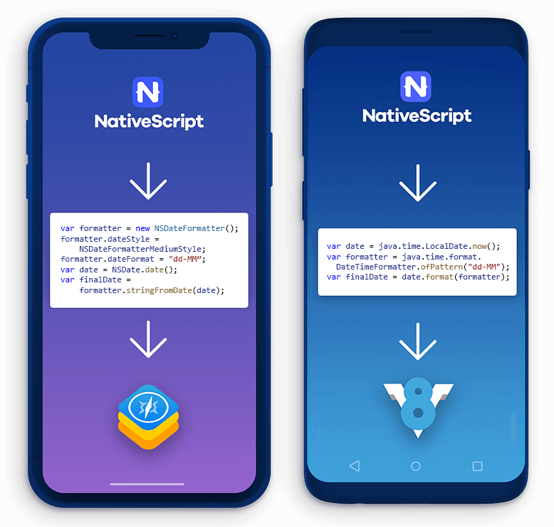 nativescript native api access
