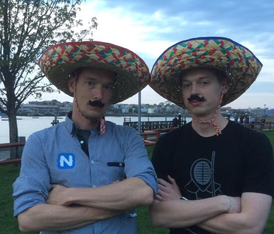 eddy and tj in sombreros
